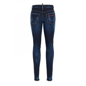 DSQUARED2 STONE WASHED SKINNY JEANS S75LB0376 S30685-470-BLUE