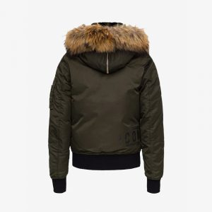 DSQUARED2 ICON FUR LINED BOMBER S80AM0005 S53151-727-MILITARY GREEN