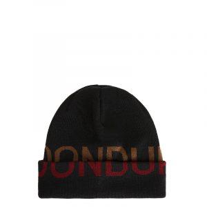 DONDUP WOOL HAT WITH JACQUARD-KNIT LOGO UQ087 Y00475U XXX-999-BLACK