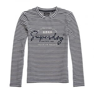 SUPERDRY STRIPE GRAPHIC NYC TOP W6010434A-JGM-NAUTICAL NAVY STRIPE