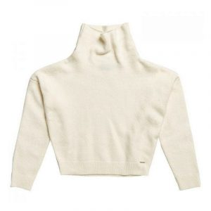 SUPERDRY ISABELLA CROPPED FUNNEL NECK SWEATER W6110097A-DKZ-WINTER WHITE MARL