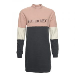 SUPERDRY NYC TIMES COLOURBLOCK DRESS W8010380A-ZH5-IRON GATE