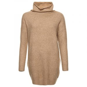 SUPERDRY ISABELLA FUNNEL NECK DRESS W8010396A-3PG-SOFT CARAMEL MARL