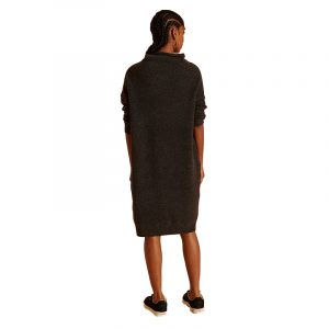 SUPERDRY ISABELLA FUNNEL NECK DRESS W8010396A-HEB-DARK CHARCOAL MARL
