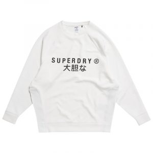 SUPERDRY SPORT TRAINING GRAPHIC OS CREW SWEATSHIRT WS310432A-01C-OPTIC