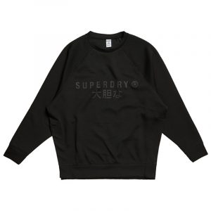SUPERDRY SPORT TRAINING GRAPHIC OS CREW SWEATSHIRT WS310432A-02A-BLACK