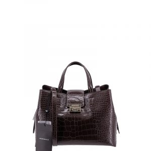 EMPORIO ARMANI TOP HANDLE BAG Y3A126 YFX2B-80353-DARK BROWN