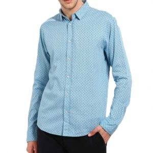 SCOTCH & SODA PRINTED CASUAL REGULAR FIT SHIRT 136343-0219-BLUE