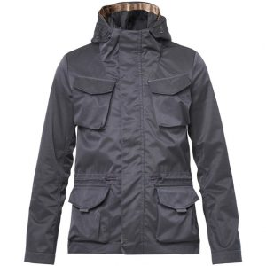 SCOTCH AND SODA MESH LINED PARKA 139367-0002-BLACK
