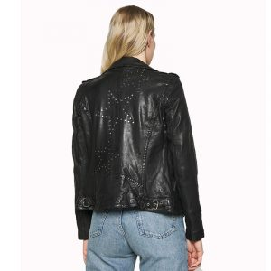 OAKWOOD JUST LEATHER JACKET 63427-501-BLACK