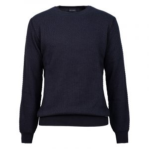 NAVY & GREEN SWEATER 24YM.918/P-BLUE/NAVY