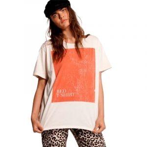ONE TEASPOON RED T-SHIRT 50H23341 WHITE