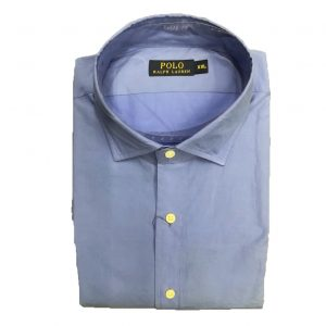 RALPH LAUREN COTTON STRETCH SHIRT 710615689004-AERIAL BLUE