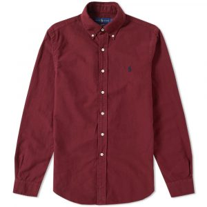 RALPH LAUREN PPC LONG SLEEVE SPORTS SHIRT 710672877003-FALL BURGUNDY