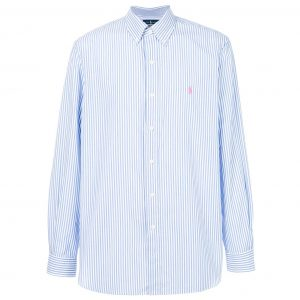 RALPH LAUREN MCLASSICS2 STRETCH SHIRT 710690629015-BLUE/WHITE