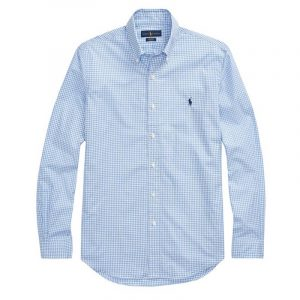 PALPH LAUREN MICRO CHECK SHIRT 710705967002-BLUE