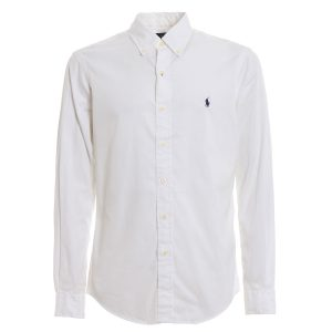 RALPH LAUREN FEATHER WEIGHT TWILL MCLASSICS SHIRT 710741788-010 WHITE