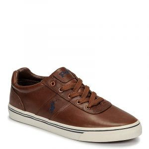 POLO RALPH LAUREN HANFORD-SK-VLC-CLA- SNEAKER 816765046-004-RUST BROWN