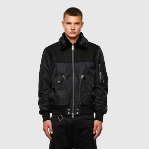 DIESEL W-LOUIS JACKET A00563-0HAZE-900-BLACK