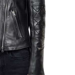 REPLAY LEATHER JACKET W7557 .000 83256 .010-BLACK