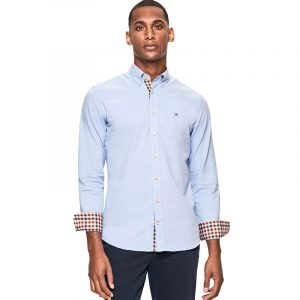 HACKETT BRUSHED FLANNEL SHIRT HM308431-513-SKY