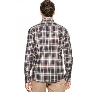 HACKETT BLOCKED PLAID ESSENTIAL LOGO SHIRT HM308461-5CV-NAVY/MULTI