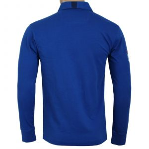 HACKETT ASTON MARTIN RACING SOLID RUGBY L/S POLO  HM570663 545-BRIGHT BLUE
