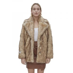 JAKKE HEATHER FAUX FUR CLASSIC COLLAR REVER J1040-FOX