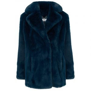 JAKKE HEATHER WEAR & CARE FAUX FUR CLASSIC COLLAR REVER J1040-T TEAL