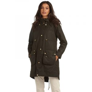 BARBOUR BIRCHES WAXED COTTON JACKET LWX1089-OL71-OLIVE