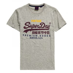 SUPERDRY VL TRI T-SHIRT M1010344A-9ST-SILVER GLASS FEEDER