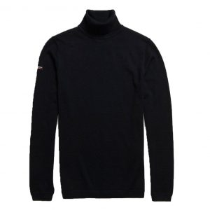 SUPERDRY EDIT MERINO ROLL NECK M6100015A W6G-BLACK