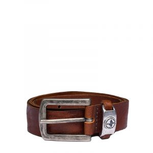MARLBORO CLASSICS VINTAGE EFFECT LEATHER BELT MCS-M-B-03002-094-COGNAC