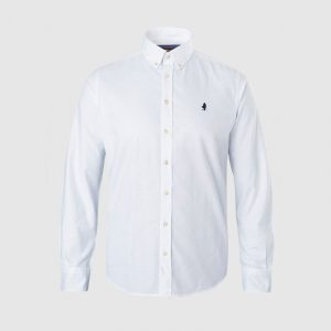 MARLBORO CLASSICS COTTON OXFORD SHIRT MCS-M-S-03002-001-WHITE