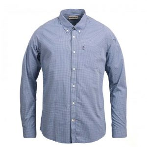 BARBOUR ENDSLEIGH MICRO GINGHAM SHIRT MSH4256BL14 BLUE