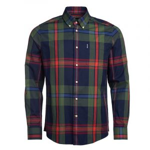 BARBOUR HIGHLAND CHECK 33 TAILORED SHIRT MSH4800-NY91-NAVY