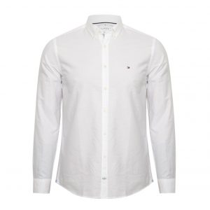 TOMMY HILFIGER ENGINEERED OXFORD SHIRT MW0MW07768-100-WHITE