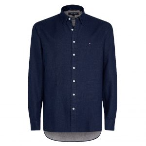 TOMMY HILFIGER DOUBLEFACE FLANNEL SHIRT MW0MW10686-0G2-NAVY