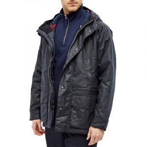 BARBOUR DENNON WAX TAILORED PARKA MWX1700-NY71-NAVY