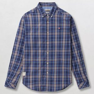 NAPAPIJRI G0YAO SHIRT N0YITV15C-15C-ORANGE CHECK