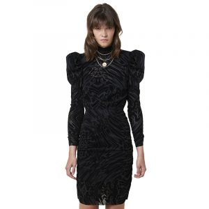 SILVIAN HEACH BLINDAT DRESS PGA20159VE-W0372-BLACK (FANTASY UNIQUE)