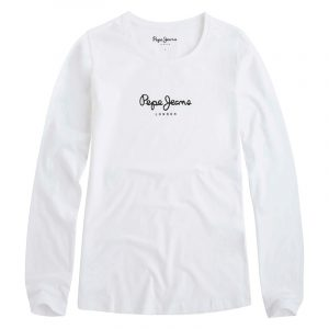 PEPE JEANS NOS NEW VIRGINIA L/S T-SHIRT PL502755-800-WHITE