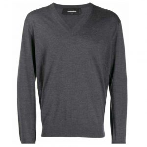 DSQUARED2 WOOL KNIT SWEATER S71HA0915 S16813-967-GREY