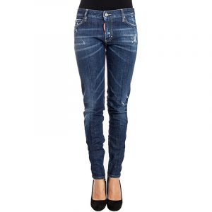 DSQUARED2 SUPER SKINNY CROPPED JEAN S72LA0874 S30342-470-BLUE