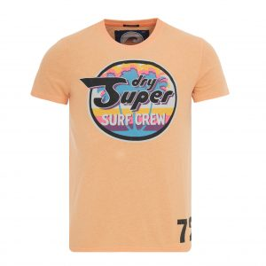 SUPERDRY REWORKED CLASSIC SURF LITE TEE T-SHIRT M10007HQ-0P7-SCORCHED CORAL