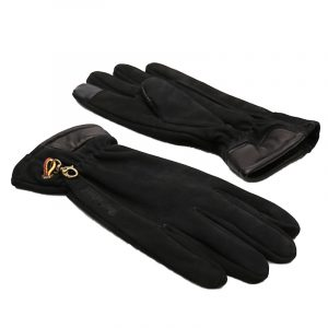 TIMBERLAND NUBUCK GLOVE WITH TOUCH TIPS TB0A1EMN-001-BLACK