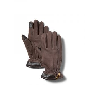 TIMBERLAND NUBUCK GLOVE WITH TOUCH TIPS TB0A1EMN-214-BROWN