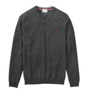 TIMBERLAND MERINO V NECK SWEATER TB0A1OHB M46-PHANTOM HEATHER