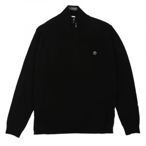 TIMBERLAND HALF ZIP SWEATER TB0A1OI8 001-BLACK