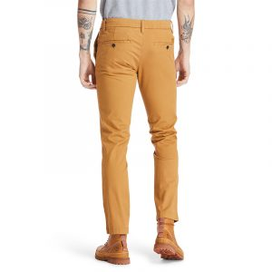 TIMBERLAND S-L STRETCH TWILL CHINO PANTS TB0A2BYY-P47-WHEAT BOOT